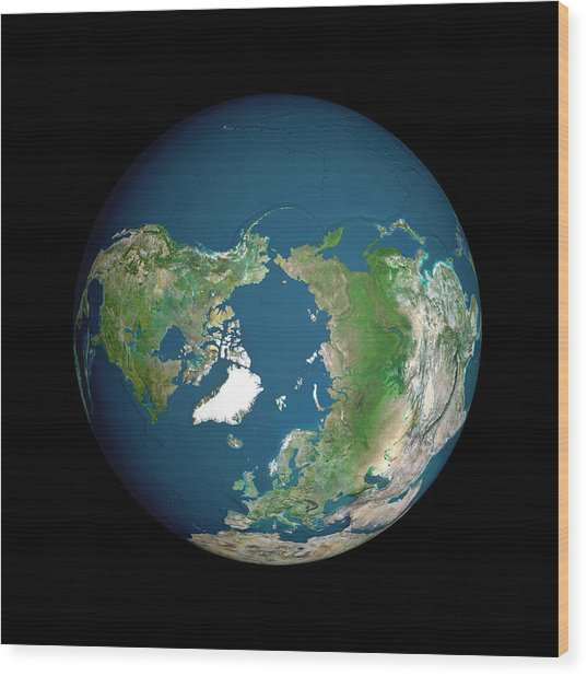 Earth Wood Print by Planetobserver/science Photo Library