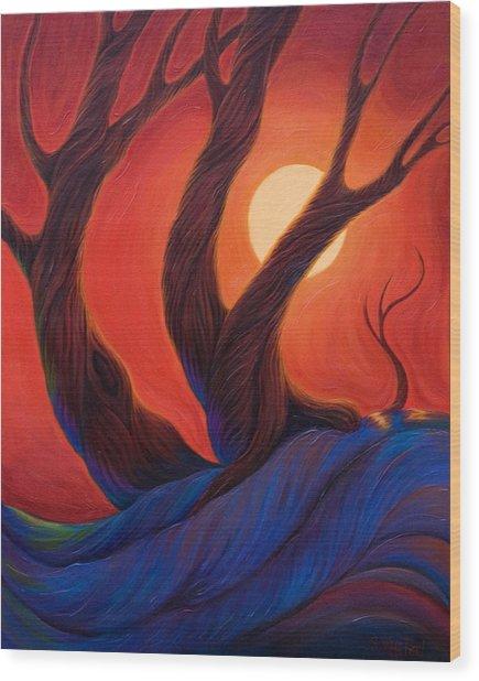Earth  Wind  Fire Wood Print