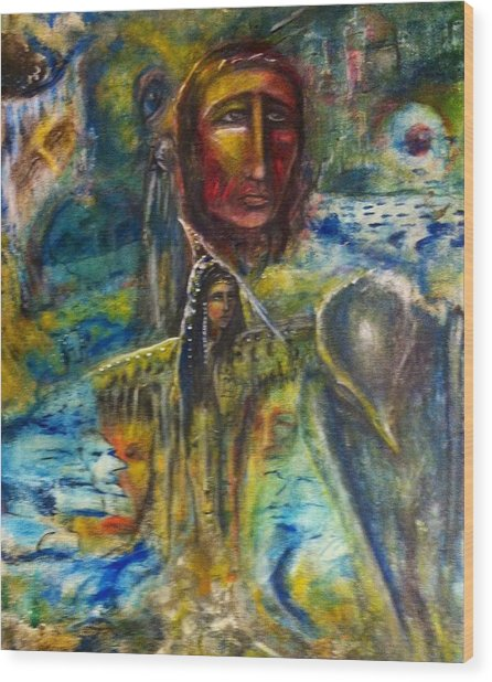 Earth Woman 2 Wood Print