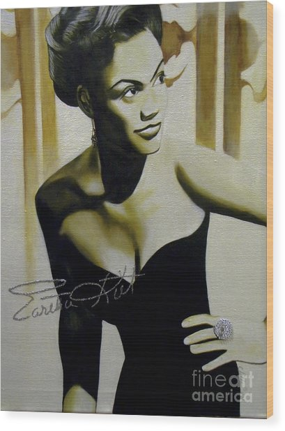 Eartha Kitt Wood Print