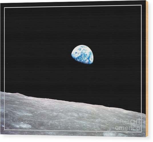 Earthrise Nasa Wood Print