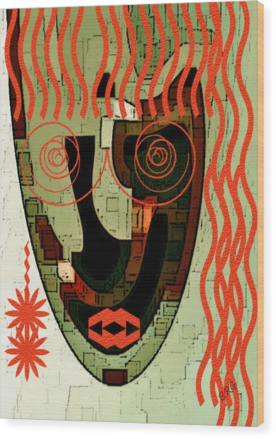 Earthy Woman Wood Print