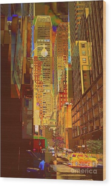 East 45th Street - New York City Wood Print