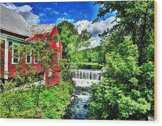 East Calais Water Powered Mill Wood Print