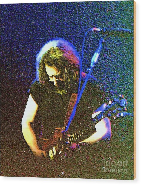 Grateful Dead - East Coast Tour - Jerry Garcia Wood Print