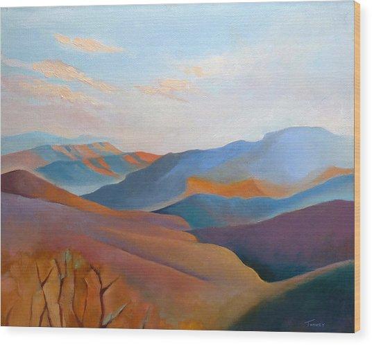 East Fall Blue Ridge No.3 Wood Print