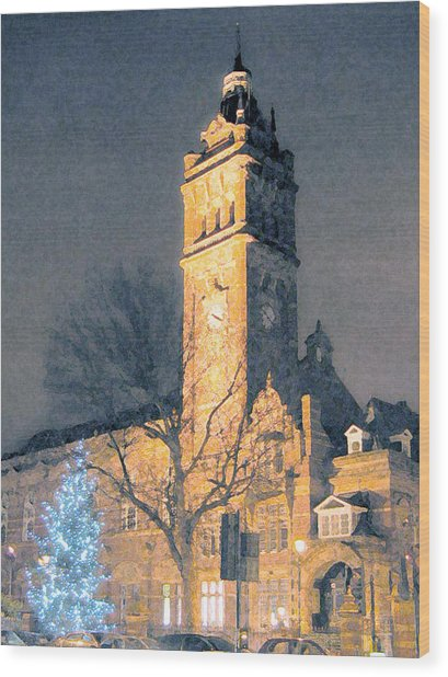 East Ham Town Hall Wood Print