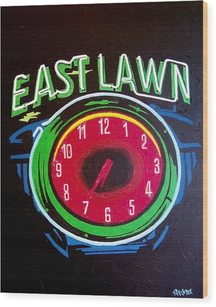 East Lawn Wood Print by Paul Guyer