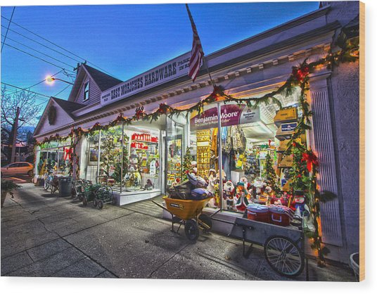 East Moriches Hardware Wood Print