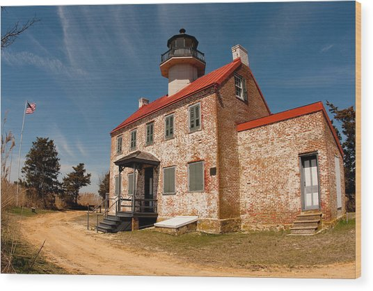 Wood Print featuring the photograph East Point In Spring by Kristia Adams