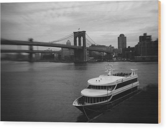 East River Afternoon Wood Print by Ben Shields