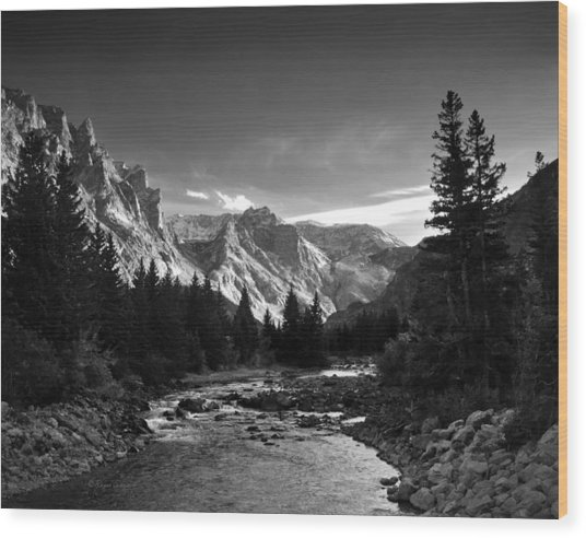 East Rosebud Canyon 7 Wood Print