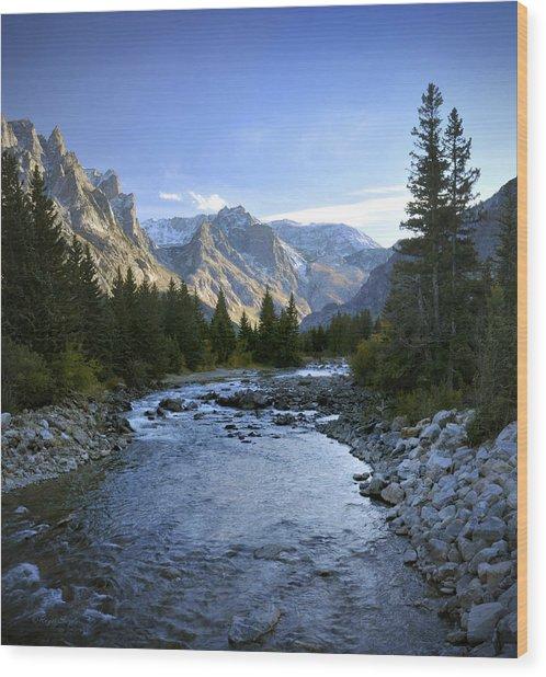 East Rosebud Canyon 8 Wood Print