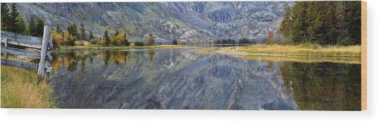 East Rosebud Lake Fall Panorama Wood Print