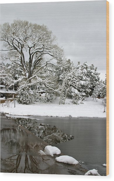 East Verde Winter Crossing Wood Print