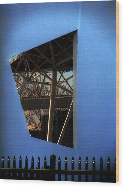 East Wall Of The Marcus Amphitheater At Summerfest Wood Print by David Blank