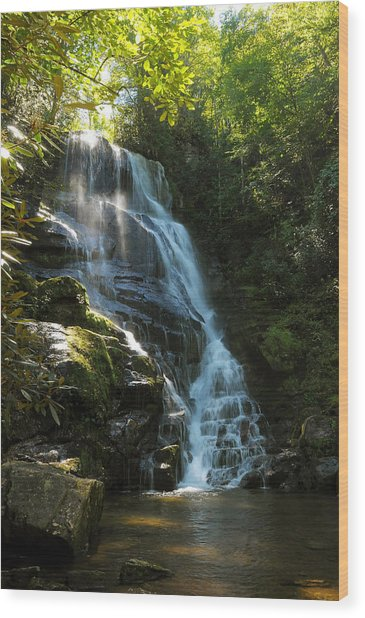 Eastatoe Falls North Carolina Wood Print