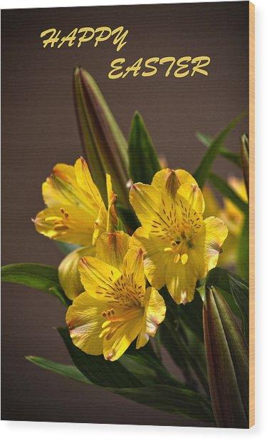 Easter Lilies Wood Print