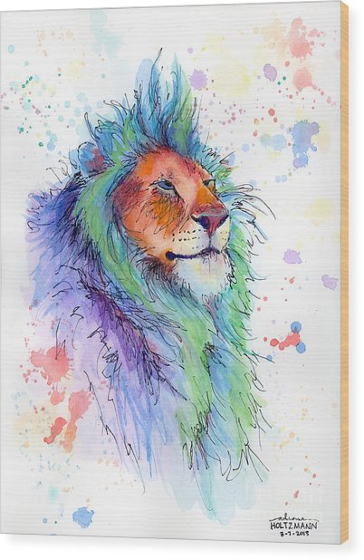Easter Lion Wood Print