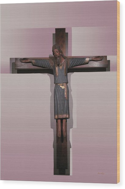 Easter Pasqua Croce Di Gesu Cross Of Jesus Wood Print