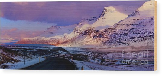 Eastern Iceland Mountain Pass Wood Print
