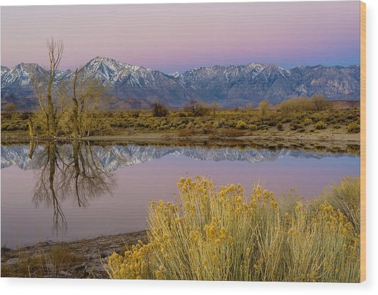 Eastern Sierra Dawn Wood Print
