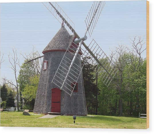 Eastham Windmill Wood Print by Catherine Gagne