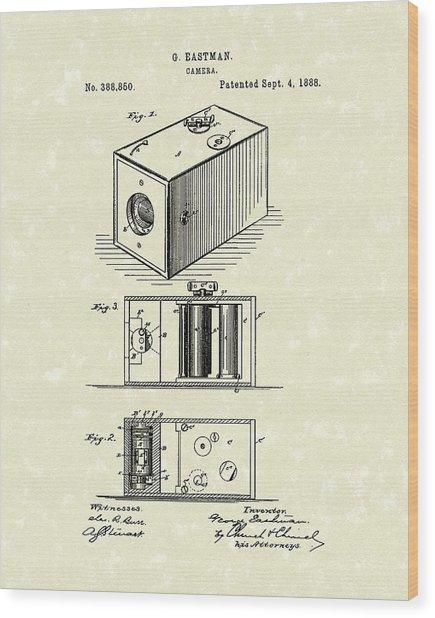 Eastman Camera 1889 Patent Art Wood Print