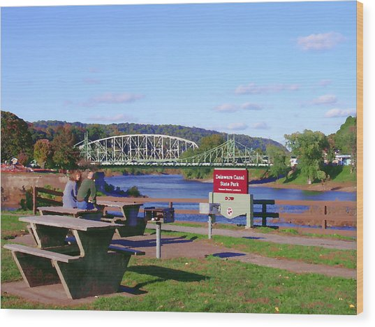 Easton Pa - Delaware Canal State Park Wood Print by Jacqueline M Lewis