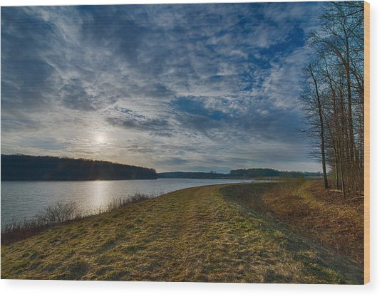 Eastward Over Chambers Lake Wood Print