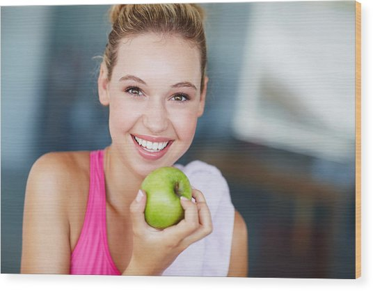 Eating The Right Way For Great Health Wood Print by GlobalStock
