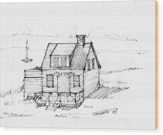 Eatons Residence Wood Print