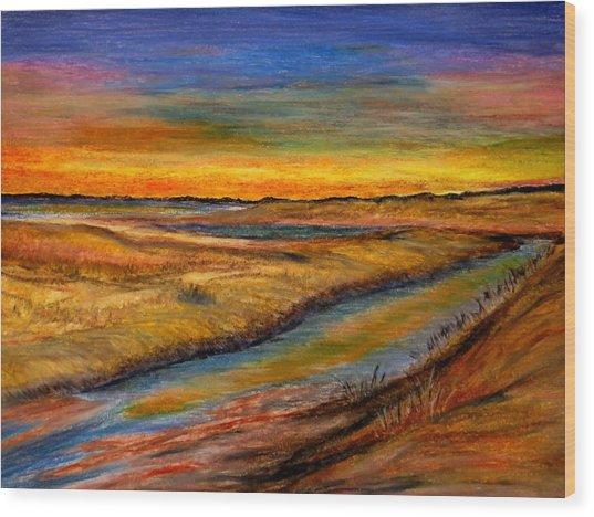 Ebbing Tide Wood Print