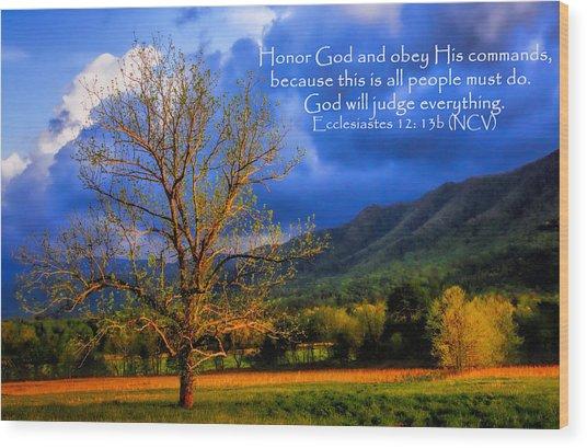 Ecclesiastes 12 - 13b Wood Print