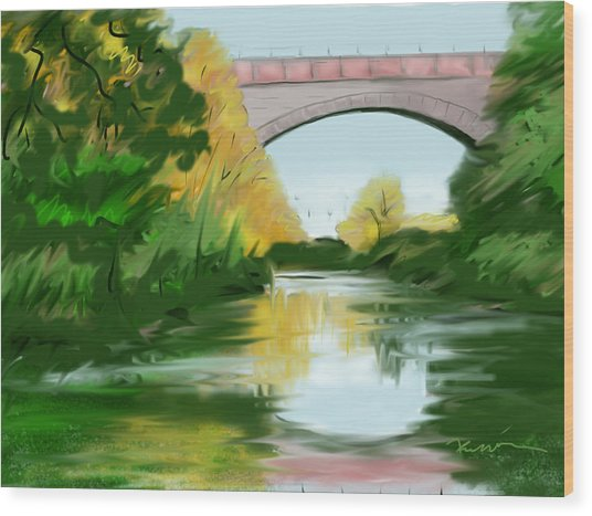 Echo Bridge Wood Print