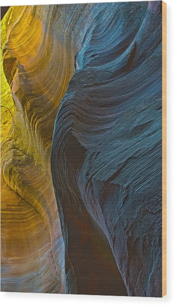 Echo Canyon Glow Wood Print
