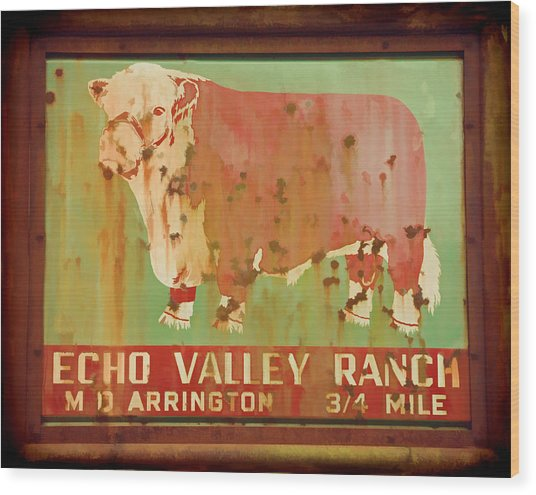 Echo Valley Ranch Stylized Wood Print