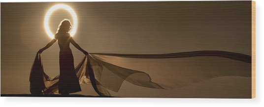 Eclipse Angel Wood Print