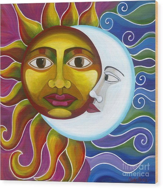 Wood Print featuring the painting Eclipse by Carla Bank