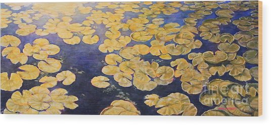 Eco Park Lake Wood Print
