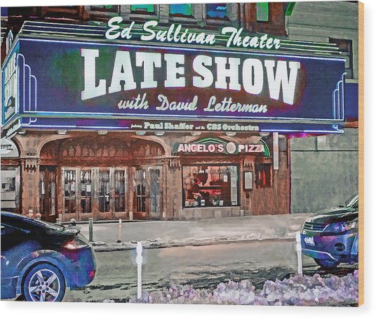 Ed Sullivan Theater Wood Print