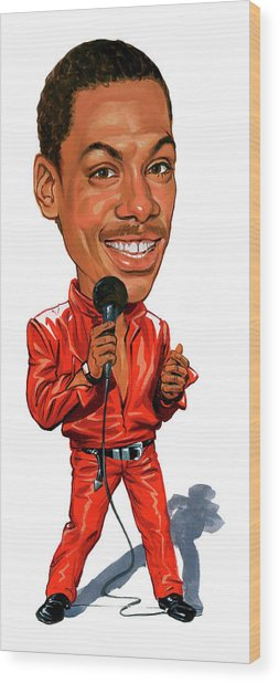 Eddie Murphy Wood Print by Art