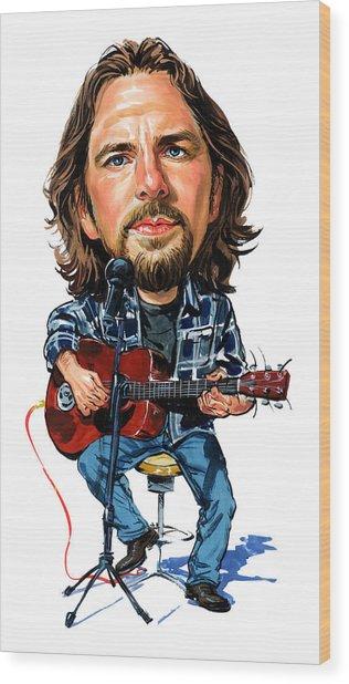 Eddie Vedder Wood Print by Art