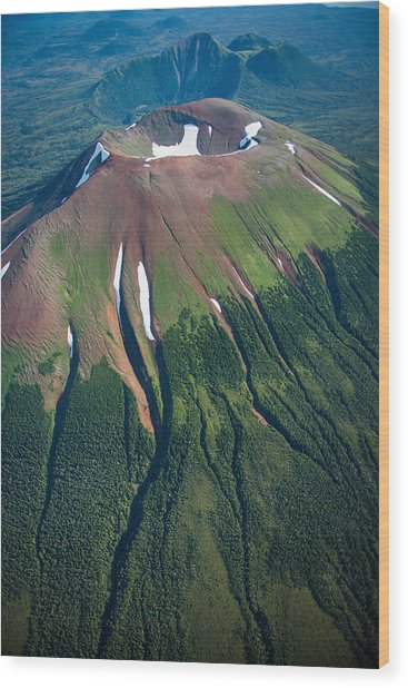 Edgecumbe Volcano Wood Print