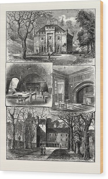 Edinburgh 1. The Hermitage Braid 2. Craig House 3 Wood Print by English School