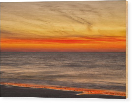 Edisto Beach Sunrise 07 Wood Print