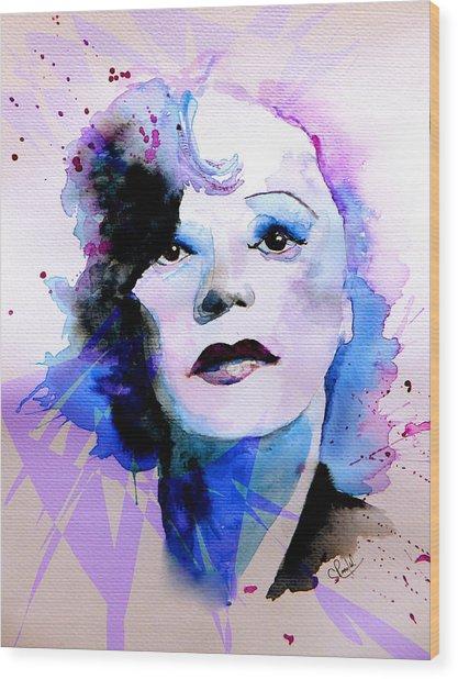 Edith Piaf Wood Print