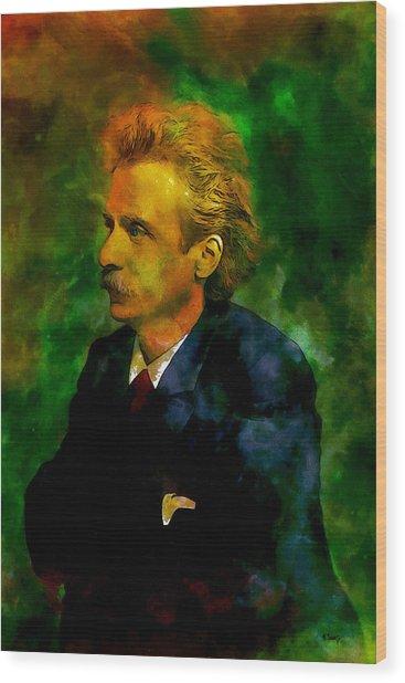 Edvard Grieg Wood Print