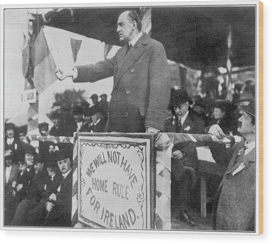 Edward Carson, Leader Of The  Irish Wood Print by Mary Evans Picture Library