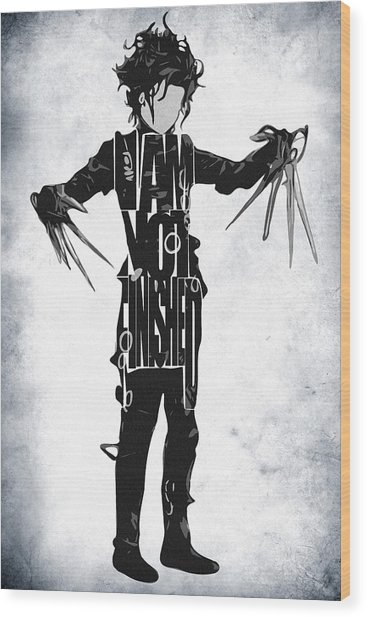Edward Scissorhands - Johnny Depp Wood Print